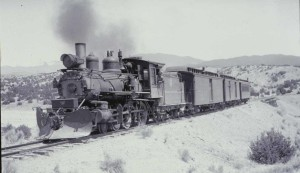 "Heading to Santa Fe on the ""Chile LIne"" in the mid 1930's. Photo by Otto Perry, used by permission of the Denver Public Library Western Collection, (OP-7760)."